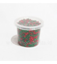 CONFETY RED&GREEN TREE SHAPE